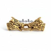 Застежка-колпачок Дракон, ВД 10мм, золото
