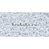 Бисер Toho 15/0 Непрозрачный морозный пастельный светло-серый