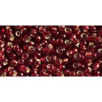 Бисер Preciosa 10/0 №97120 Внутреннее серебрение бордовый, 1 сорт (50 гр)