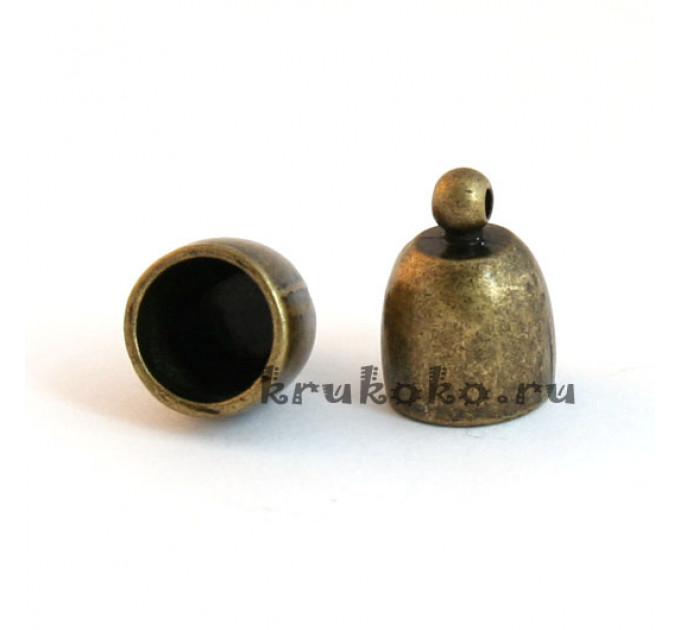 Колпачок клеевой закругленный, ВД 10мм, бронза
