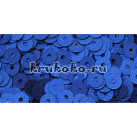 Итальянские плоские пайетки Bluette Satinati, 4мм, 3гр (616W)