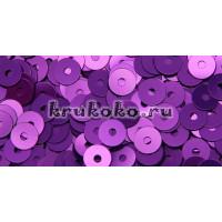 Итальянские плоские пайетки Viola Metal, 4мм, 3гр (5389)