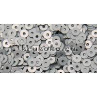 Итальянские плоские пайетки Ghiaccio Metal, 3мм, 3гр (1009)