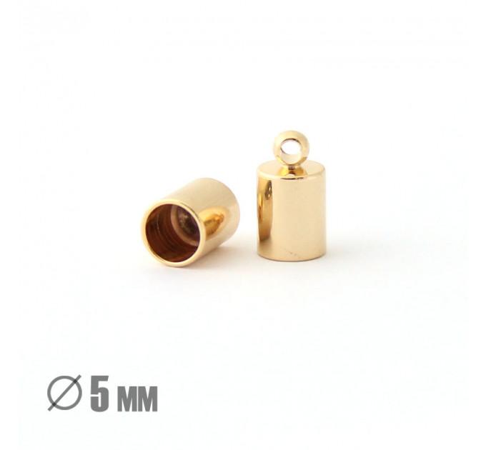 Колпачок-циллиндр, ВД 5мм, позолота