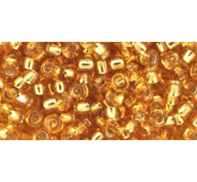 Бисер Preciosa 10/0 №17050 Внутреннее серебрение янтарь, 1 сорт (50 гр)