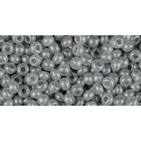 Бисер Preciosa 10/0 №17742 Полупрозрачный алебастр светло-серый, 1 сорт (50 гр)