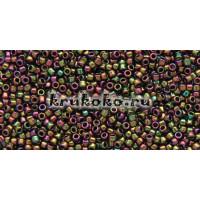 Бисер Toho 15/0 Высоко металлизированный пурпурно-зеленый ирис