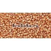 Бисер Toho 15/0 Permanent Finish гальванизированный розовое золото