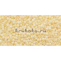 Бисер Toho 15/0 Непрозрачный морозный пастельный яичная скорлупа