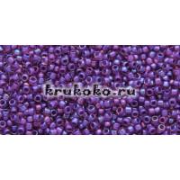 Бисер Toho 15/0 Окрашенный изнутри радужный светло-розовый + Непрозрачный пурпурный