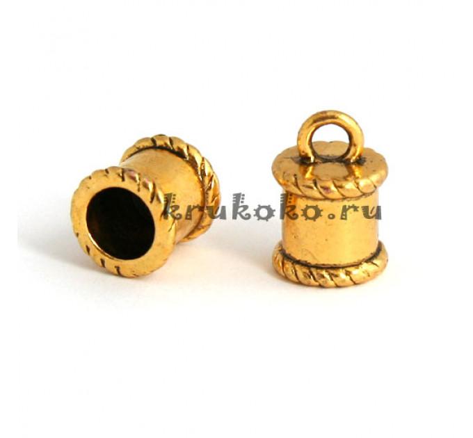 Колпачок клеевой, ВД 7,5мм, золото
