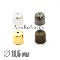 Колпачок-концевик, ВД 11,5мм, золото