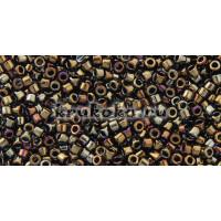 Бисер Miyuki Delica 11/0 Металлизированный коричневый ирис (DB0007).