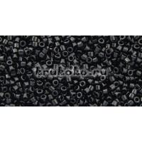 Бисер Miyuki Delica 11/0 Непрозрачный черный (DB0010)