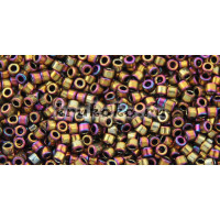 Бисер Miyuki Delica 11/0 Металлизированный пурпурный/золотой ирис (DB0029)