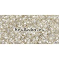 Бисер Miyuki Delica 11/0 Внутреннее серебрение хрусталь (DB0041)