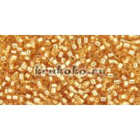 Бисер Miyuki Delica 11/0 Внутреннее серебрение золото (DB0042)
