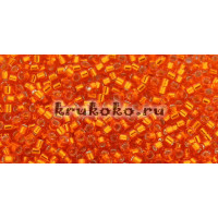 Бисер Miyuki Delica 11/0 Внутреннее серебрение мандарин (DB0045)
