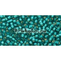 Бисер Toho 11/0 Внутреннее серебрение морозный зеленая вода