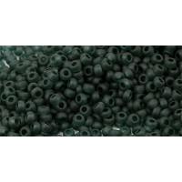 Бисер Preciosa 10/0 №50150M Прозрачный матовый темно-зеленый, 1 сорт (50 гр)