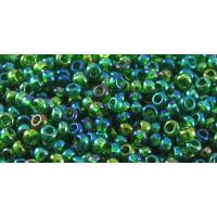 Бисер Preciosa 10/0 №51120 Прозрачный радужный зеленый, 1 сорт (50 гр)