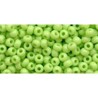 Бисер Preciosa 10/0 №53410 Непрозрачный светло-зеленый, 1 сорт (50 гр)