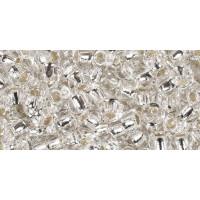 Бисер Preciosa 10/0 №78102 Внутреннее серебрение белый, 1 сорт (50 гр)