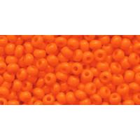 Бисер Preciosa 10/0 №93140 Непрозрачный ярко-оранжевый, 1 сорт (50 гр)