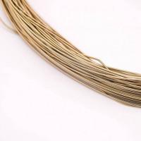 Канитель жесткая, 1 мм, темное золото (5 гр)