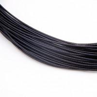 Канитель жесткая, 1,25 мм, черная (5 гр)
