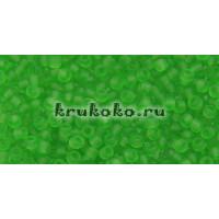 Бисер Toho 11/0 Прозрачный морозный перидот
