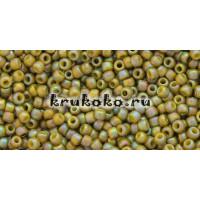 Бисер Toho 11/0 Полуматовый радужный оливковый