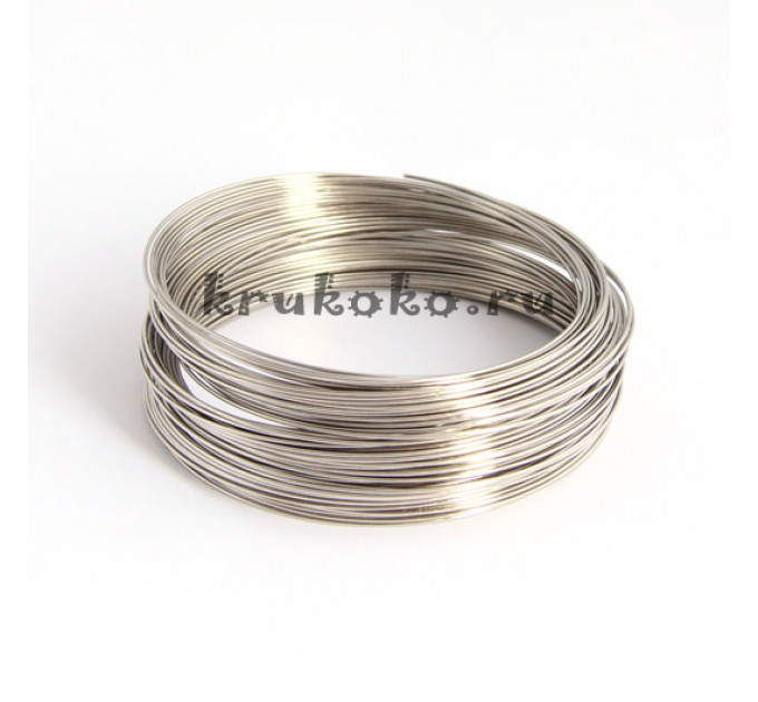 Мемори проволока для браслетов, диаметр 5,5см, серебро (5 витков)