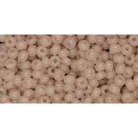 Бисер Preciosa 10/0 №02212 Полупрозрачный алебастр пыльная роза, 1 сорт (50 гр)