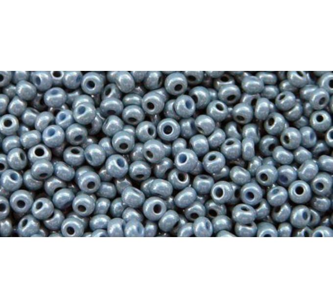 Бисер Preciosa 10/0 №33025 Непрозрачный люстровый серо-синий, 1 сорт (50 гр)