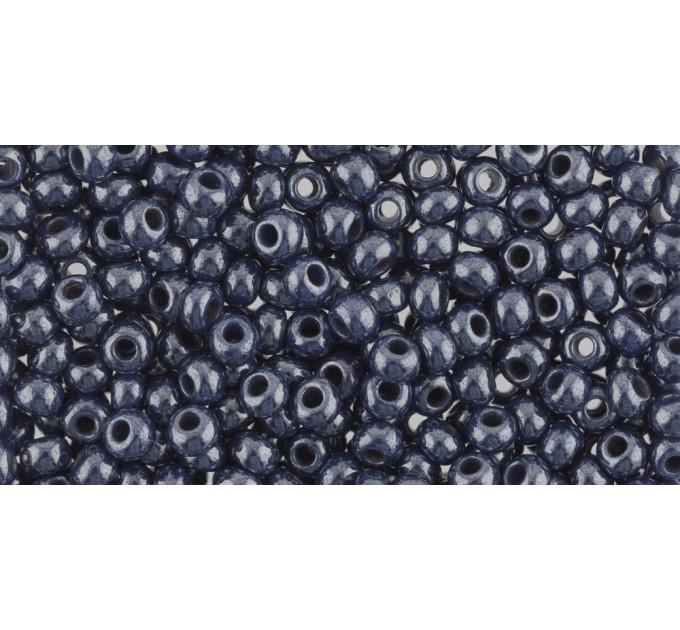 Бисер Preciosa 10/0 №33061 Непрозрачный люстровый темно-синий, 1 сорт (50 гр)