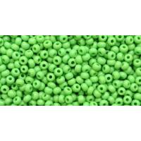 Бисер Preciosa 10/0 №53210M Непрозрачный матовый зеленое яблоко, 1 сорт (50 гр)