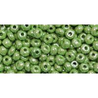 Бисер Preciosa 10/0 №58310 Непрозрачный люстровый светло-зеленый, 1 сорт (50 гр)