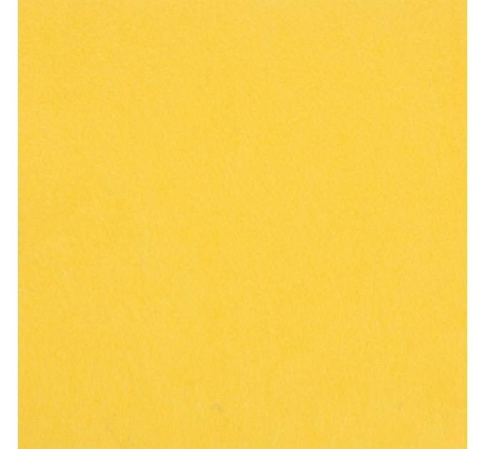 """Фетр """"BLITZ"""" жесткий, 1мм, 20см х 30см, №CH654 св. желтый"""