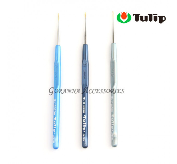 Tulip MinD Крючок для вязания с пластиковой ручкой 0,8мм