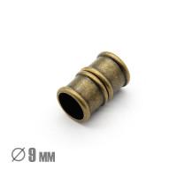 Магнитная застежка Бамбук, ВД 9мм, бронза