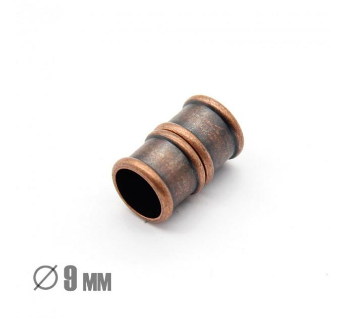 Магнитная застежка Бамбук, ВД 9мм, медь