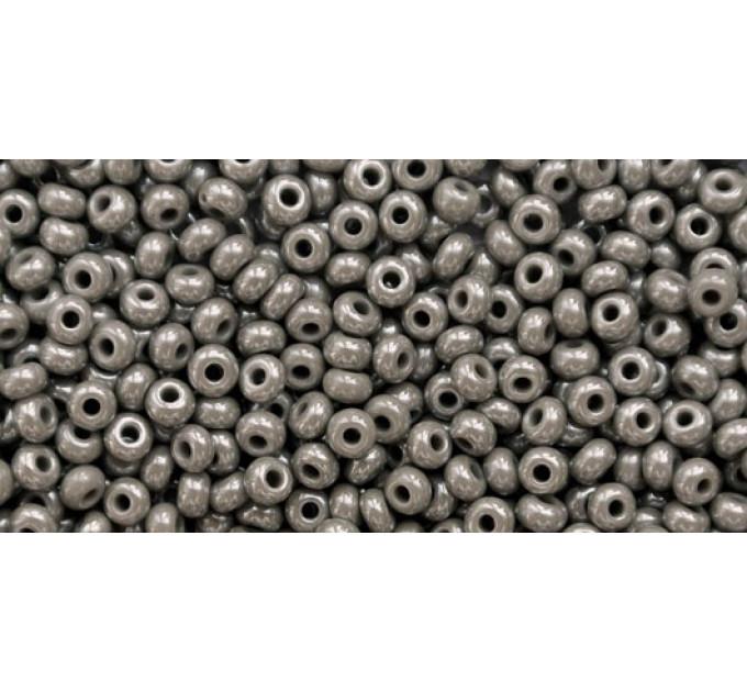 Бисер Preciosa 10/0 №48020 Непрозрачный люстровый серый, 1 сорт (50 гр)