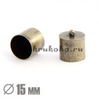 Колпачок-циллиндр, ВД 15мм, бронза