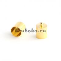 Колпачок-циллиндр, ВД 10мм, золото