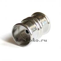 Магнитная застежка Бамбук, ВД 12мм, серебро