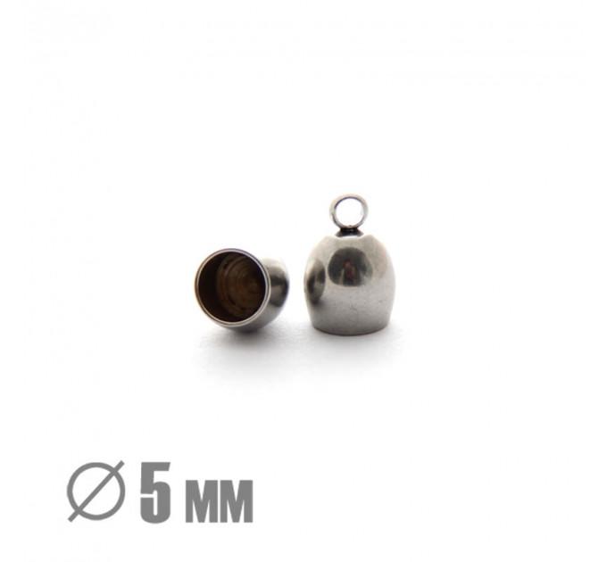 Колпачок клеевой закругленный, ВД 5мм, нержавеющая сталь