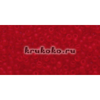 Бисер Toho 11/0 Прозрачный морозный рубин (TR-11-5BF)