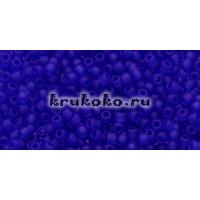 Бисер Toho 11/0 Прозрачный морозный кобальт