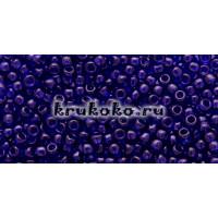 Бисер Toho 11/0 Прозрачный тёмный кобальт (TR-11-8D)